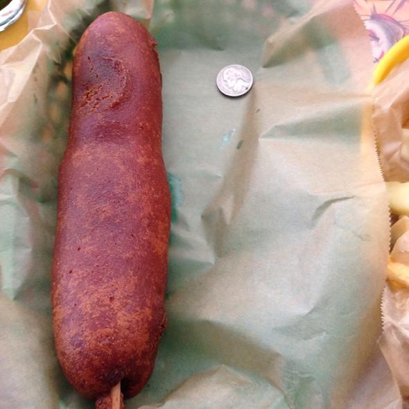 Fryinstein Corn Dog @ Pallookaville Fine Foods