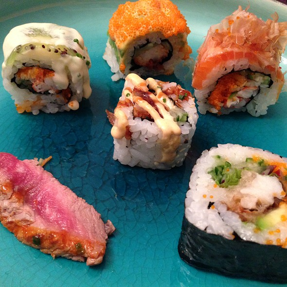 Uramaki & Beef Tataki @ Ono Japanese Dining