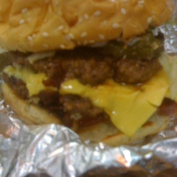 Bacon Cheeseburger @ Five Guys Burger and Fries