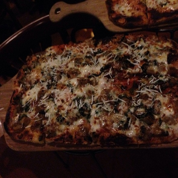 Eggplant Parmigiana Pizza - Riccardo Enoteca, Chicago, IL
