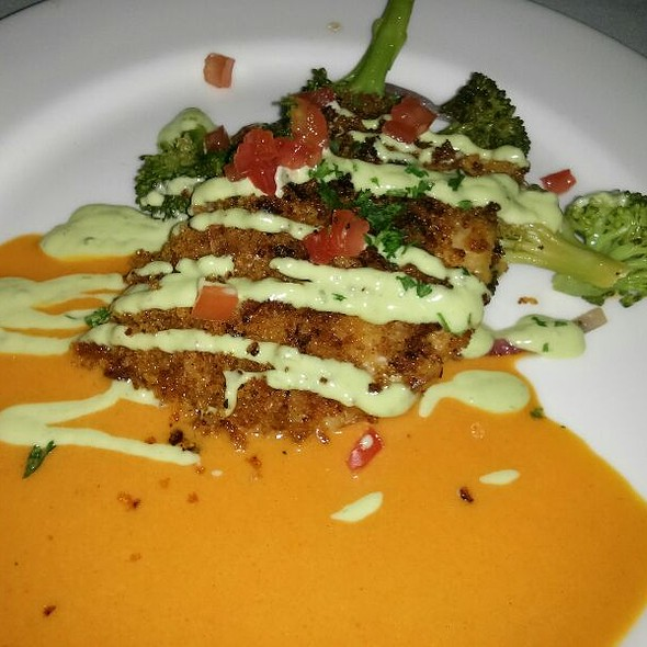Pan seared Andouille crusted redfish - Marina Cafe, Destin, FL