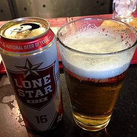 Lone Star Beer - MAX's Wine Dive Austin - San Jacinto Blvd., Austin, TX