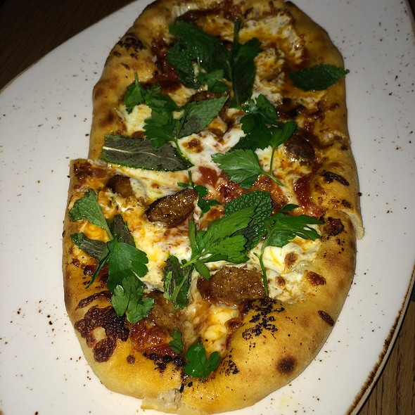 Pizza With Lamb Sausage @ Gato