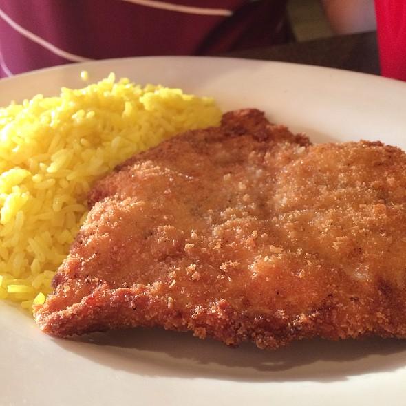 Chicken Schnitzel @ Cafe Sababa