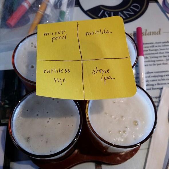 Beer Flight - Garrett Hill Ale House, Bryn Mawr, PA