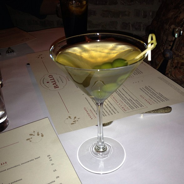 Gray Goose Dirty Martini - Ballo Italian Restaurant, Uncasville, CT