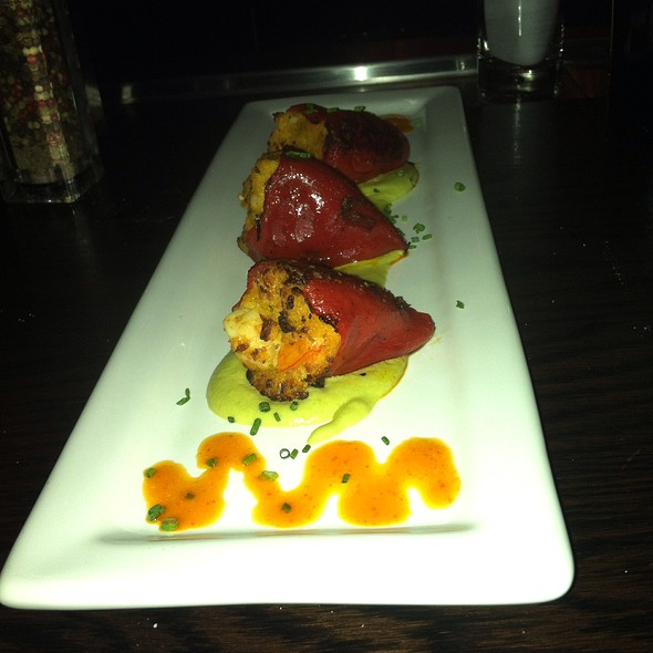 Piquillo Peppers Stuffed With Shrimp - Eno Vino Wine Bar and Bistro, Madison, WI
