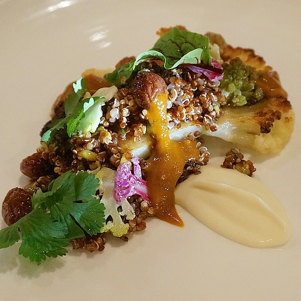Roasted cauliflower, quinoa, grapes, pistachios, chili - Boka, Chicago, IL