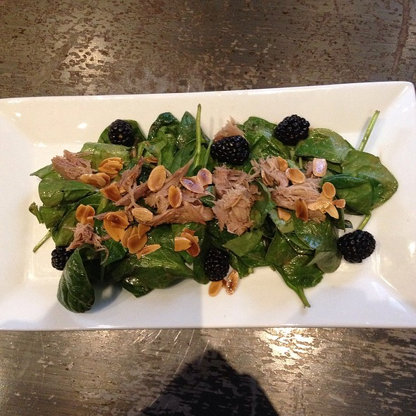 Spinach Salad with Duck Confit