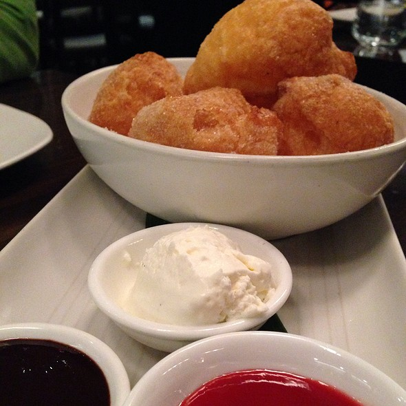 Sugar Egg Puffs With Dipping Sauce @ M.Y. china