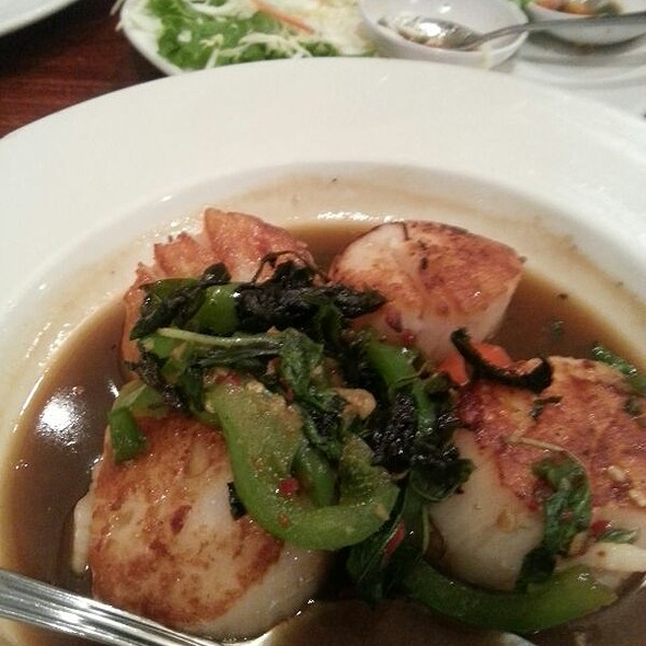 Scallops With Basil Thia Chill Sauce @ Lotus of Siam