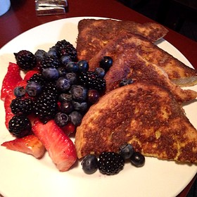 French Toast With Fresh Berries - Cupping Room Cafe, New York, NY