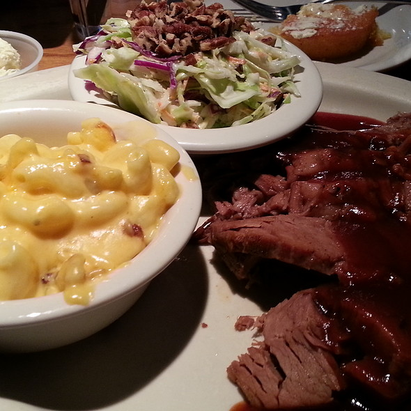 BBQ Brisket with Side of Mac and Cheese and Coleslaw @ Bobby Q