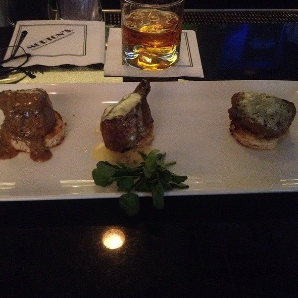 Filet Mignon Trio - Morton's The Steakhouse - Reston, Reston, VA