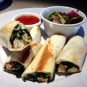 Zoes Kitchen Spinach Roll Ups best roll ups in the world - foodspotting