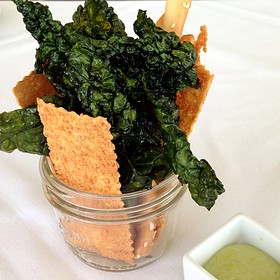 Bread Sticks And Crispy Kale