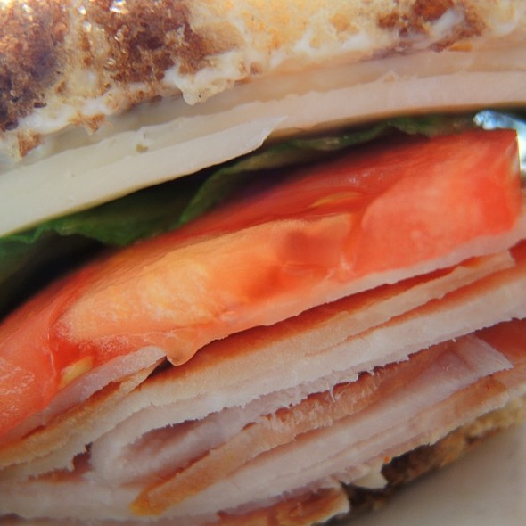 Ham & Provolone on Rye @ Sidewalk Cafe