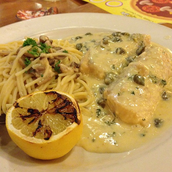 Cod With Aglio Olio @ California Pizza Kitchen