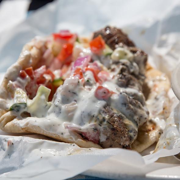 Lamb Souvlaki Sandwich - George's Greek Cafe - Pine Street, Long Beach, CA