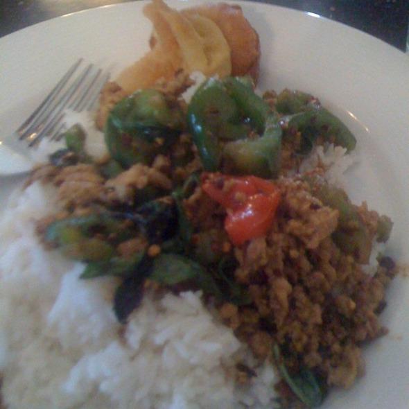 Favorite Basil On Rice @ Tup Tim Thai