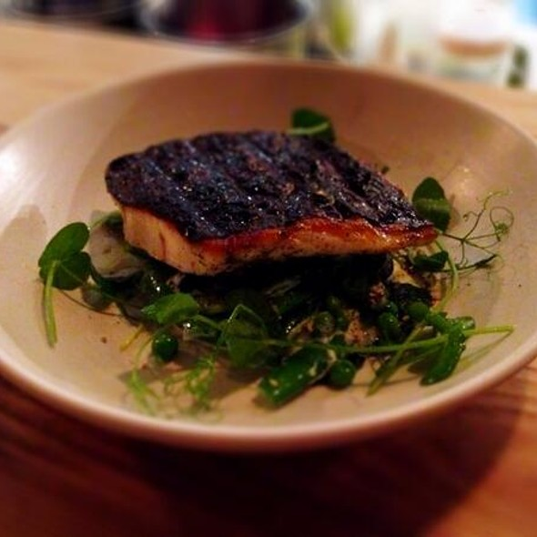 Fish with Peas and Fetta @ Nomad Restaurant. Food | Wine | Cellar Door
