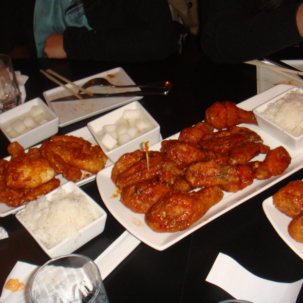 Korean Spicy Wings @ Bon Chon Chicken