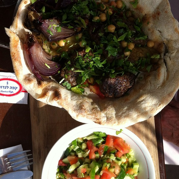 Kebab With Tehina  @ Landwer Cafe (De Shalit Square)