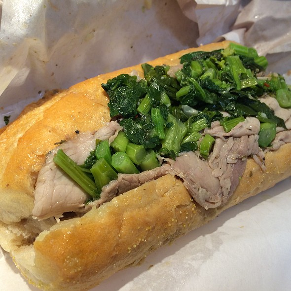 Roast Pork Sandwich With Broccoli  Rabe And Provolone