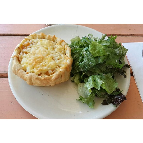 Tarta de calabaza con queso de cabra + Verdes