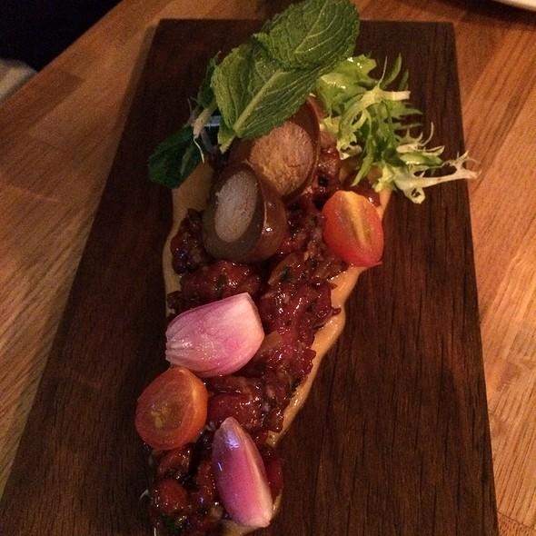 Steak Tatar With Pickled Eggs @ La Vigne
