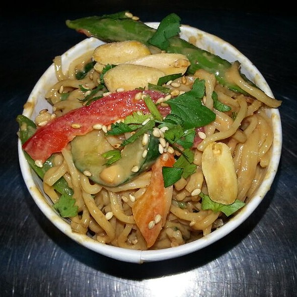 Cold Sesame Noodles with Spicy Peanut Sauce @ Savourie Streets Food Truck