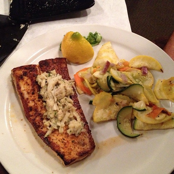 Grilled Redfish With Lump Crabmeat In Lemon Butter Sauce @ Lookout Steakhouse