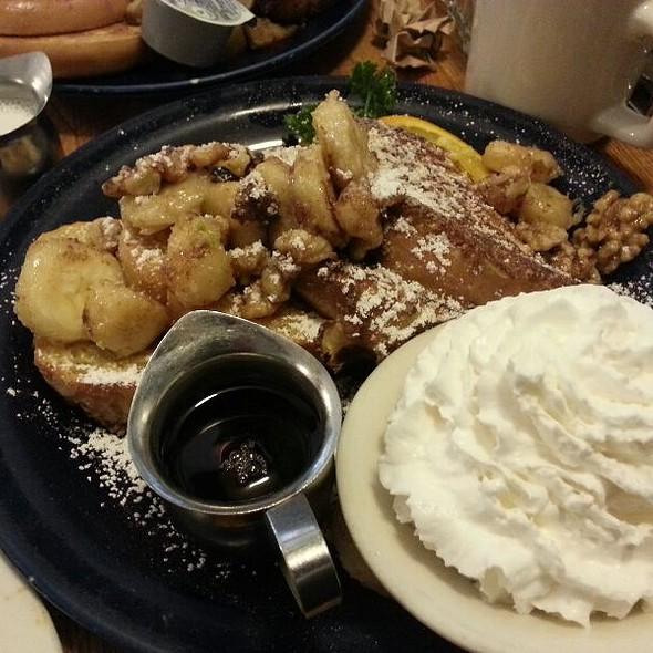 Belgian Waffles With Walnuts, Bananas And Whip Cream @ Walnut Avenue Cafe