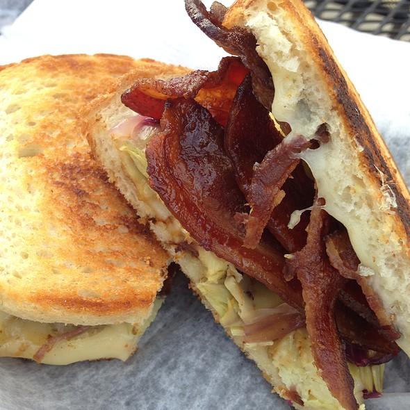artichoke and swiss sandwich with bacon @ Katalina's Cafe Corner