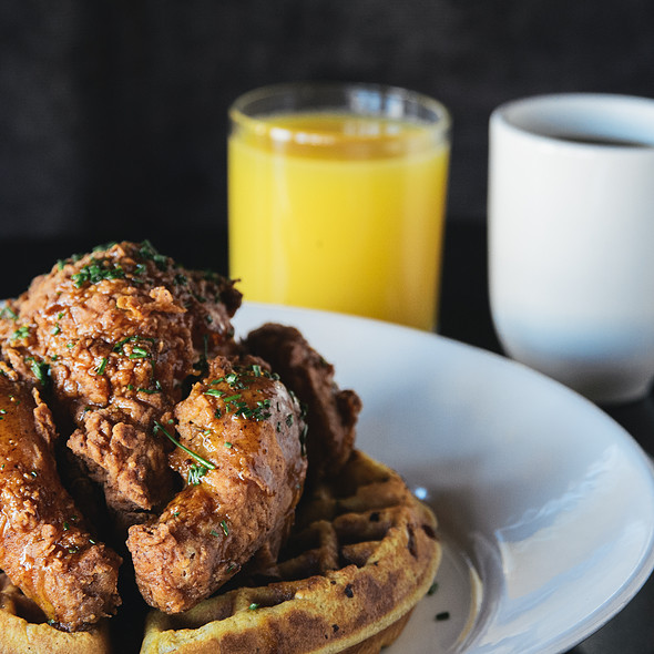 Chicken and Waffles @ Temple Bar