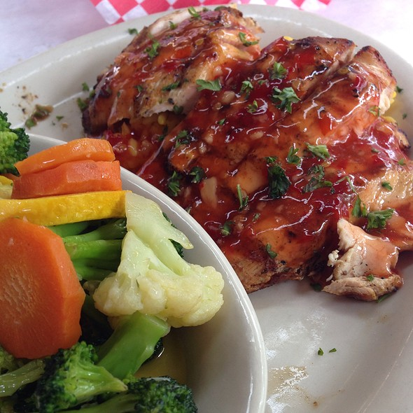 Chili Chicken (Special) Over Rice @ Cody's Original Roadhouse