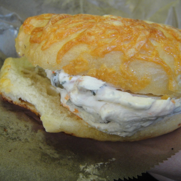 Creamy Crab bagels @ Morning Glory Bakery