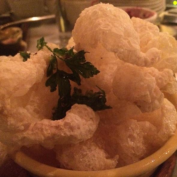 Salt & Vinegar Beef Tendon Chips @ The Purple Pig