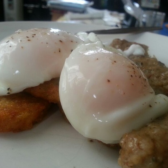 Poached Eggs And Hashbrowns @ Marsibilio's Trattoria