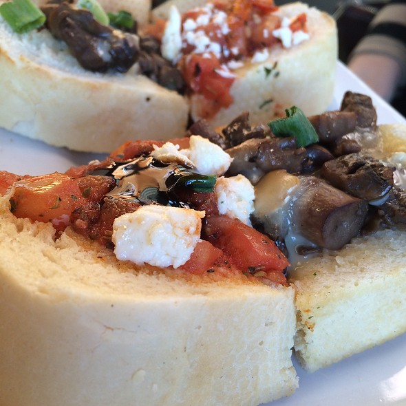 Bruschetta- Brie And Mushroom/ Feta And Tomato - Iron Goat Pub & Grill, Canmore, AB