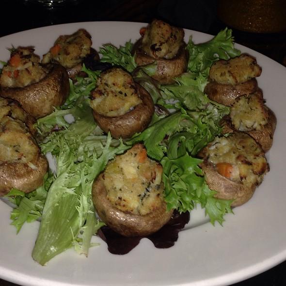 crab stuffed mushrooms - Stoddard's, Boston, MA