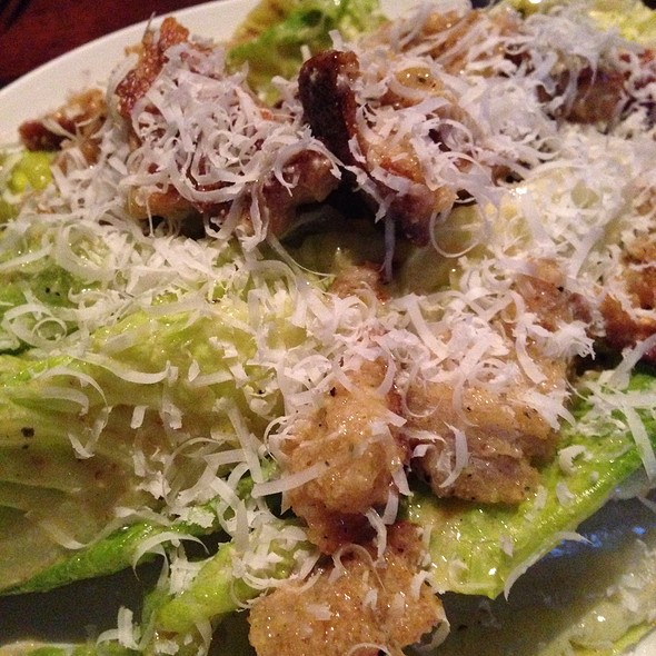 Caesar-Romaine Hearts with Farm Egg, Anchovy, Lemon, Garlic Croutons and Parmesan - Zero Zero, San Francisco, CA