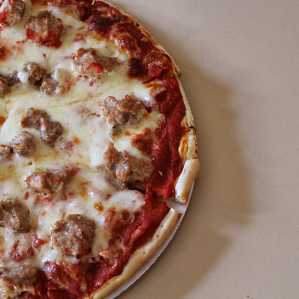 9 Inch Sausage Pizza @ Red's Pizza & Catering