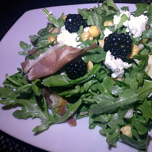 Blackberry,Bosc Pear and Proscuitto Salad