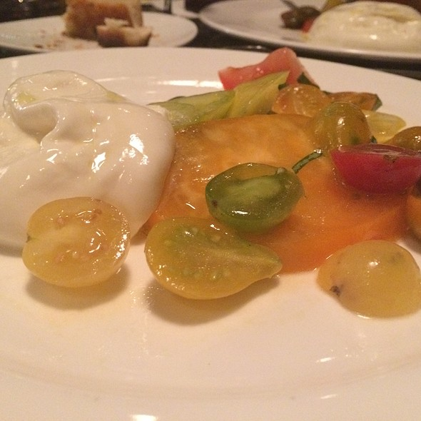 Heirloom Tomato and Burrata @ Toscana Divino