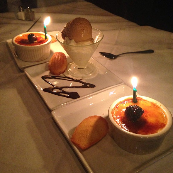 Creme Brule And Chocolate And Salted Caramel Ice Creams - Blue Point Grille, Cleveland, OH