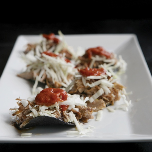 Duck Tostaditas @ Milagro Modern Mexican