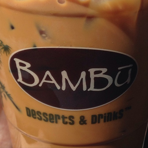 Iced Vietnamese Coffee @ BAMBU Desserts And Drinks