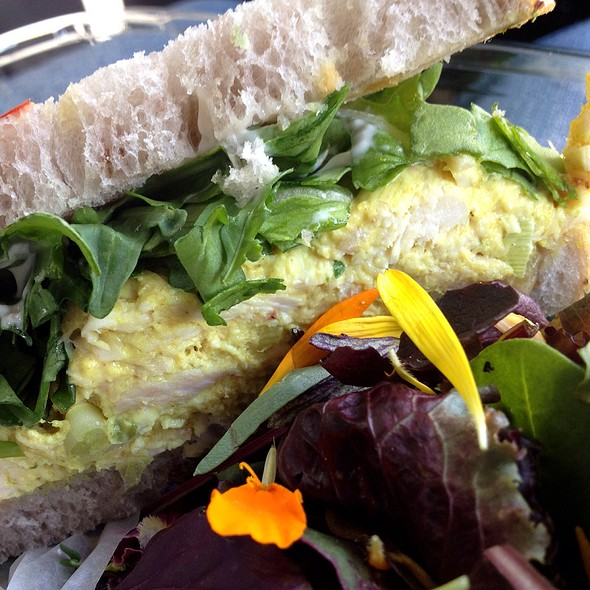 Curry Chicken Salad Sandw @ Romancing the Bean