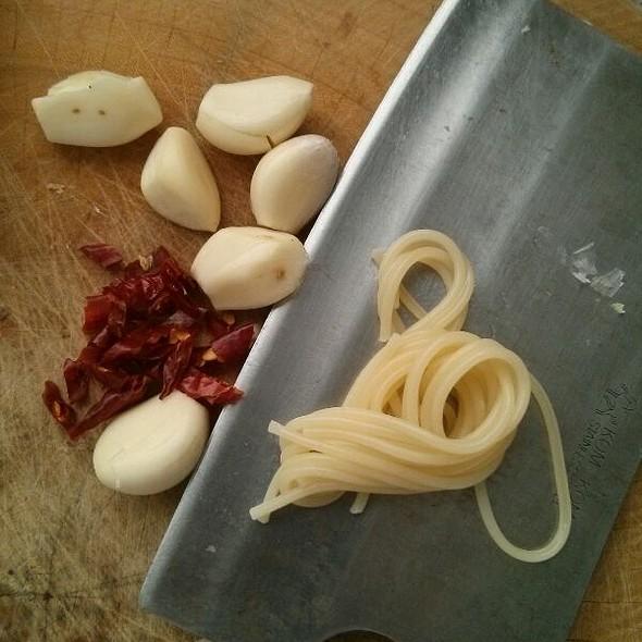 Spaghetti With Garlic And Chilli @ My Home
